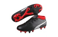 Black Friday 2020 Puma ONE 18.4 FG JR Soccer CleatsBlack-Silver-Red Outlet Sale