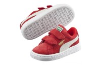 Puma Suede 2 straps Infanthigh risk red-white Outlet Sale