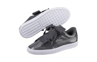 Black Friday 2020 Puma Basket Heart Patent Women's Sneakers Iron Gate-Iron Gate Outlet Sale