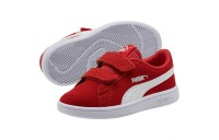Puma Smash v2 Suede Preschool Sneakers High Risk Red- White Outlet Sale