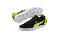 Black Friday 2020 Puma Suede Bow Block Women's Sneakers Black-Sulphur Spring Outlet Sale
