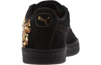 Black Friday 2020 Puma Suede Hyper Embroidered Women's Sneakers Black- Team Gold Outlet Sale
