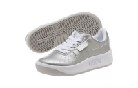 Puma California Metallic Sneakers PSSilver- White Outlet Sale