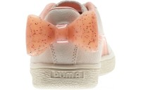 Puma Suede Jelly Bow Sneakers JRWhis White-Peach Bud-Silver Outlet Sale