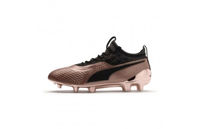 Black Friday 2020 Puma PUMA ONE 1 GLO FG/AG Men's Soccer CleatsRose Gold- Black Outlet Sale