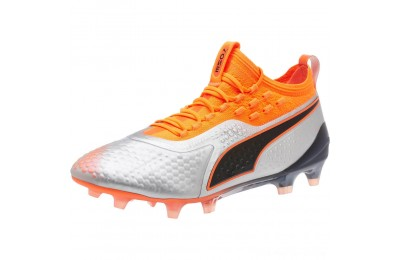 Puma PUMA ONE 1 Syn FG/AGSilver-Orange-Black Outlet Sale