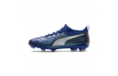 Puma PUMA ONE 3 Leather FG Men's Soccer CleatsSodalite Blue-Silver-Peacoat Outlet Sale