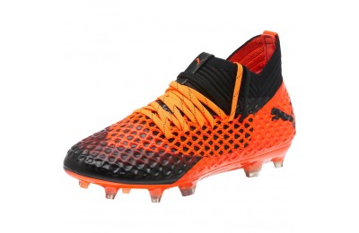 Puma FUTURE 2.1 NETFIT FG/AG JrBlack-Orange Outlet Sale
