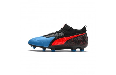 Puma PUMA ONE 19.3 FG/AG Men's Soccer CleatsBleu Azur-Red Blast-Black Outlet Sale