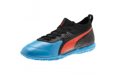 Puma PUMA ONE 19.3 IT Men's Soccer Shoes Bleu Azur-Red Blast-Black Outlet Sale