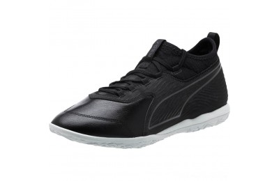 Puma PUMA ONE 19.3 IT Men's Soccer Shoes Black- Black-White Outlet Sale