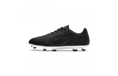 Puma PUMA ONE 19.4 FG/AG Men's Soccer Cleats Black- Black-White Outlet Sale