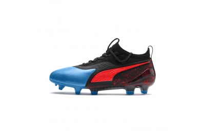 Puma PUMA ONE 19.1 FG/AG Soccer Cleats JRBleu Azur-Red Blast-Black Outlet Sale