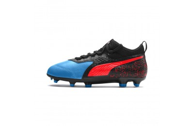 Puma PUMA ONE 19.3 FG/AG Soccer Cleats JRBleu Azur-Red Blast-Black Outlet Sale