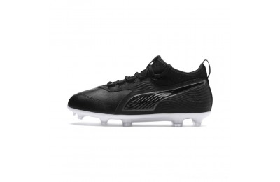 Puma PUMA ONE 19.3 FG/AG Soccer Cleats JR Black- Black-White Outlet Sale