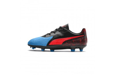 Puma PUMA ONE 19.4 FG/AG Soccer Cleats JRBleu Azur-Red Blast-Black Outlet Sale