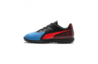 Puma PUMA ONE 19.4 TT Soccer Cleats JRBleu Azur-Red Blast-Black Outlet Sale