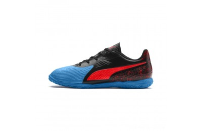 Puma PUMA ONE 19.4 IT Soccer Shoes JRBleu Azur-Red Blast-Black Outlet Sale