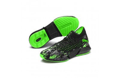 Puma FUTURE Rocket Men's Running Shoes Black-Gray-Green Gecko Outlet Sale