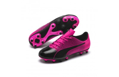 Puma PUMA Spirit II FG Jr Black-KNOCKOUT PINK Outlet Sale
