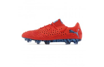 Black Friday 2020 Puma FUTURE 19.1 NETFIT Lo FG/AG Men's Soccer CleatsRed Blast-Bleu Azur Outlet Sale