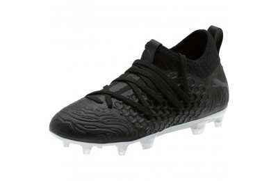Black Friday 2020 Puma FUTURE 19.3 NETFIT FG/AG Soccer Cleats JR Black- Black-White Outlet Sale