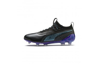 Puma PUMA ONE 19.1 MVP FG/AG Men's Soccer CleatsBlack-cari sea-purple-orange Outlet Sale
