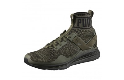 Puma IGNITE evoKNIT Men's Training Shoes BurntOlive-ForestNight-Black Outlet Sale