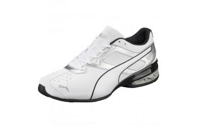 Puma Tazon 6 FM Men's Sneakers White-puma silver-Black Outlet Sale