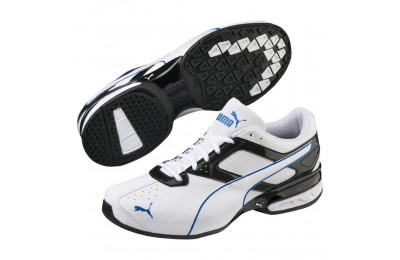 Black Friday 2020 Puma Tazon 6 FM Men's Sneakers White-Black-Strong Blue Outlet Sale