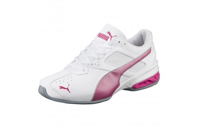 Puma Tazon 6 FM Women's Sneakers White-fuchsia purple-silver Outlet Sale