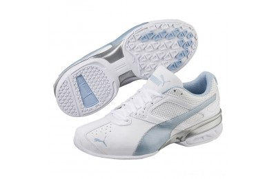 Black Friday 2020 Puma Tazon 6 FM Women's Sneakers White-CERULEAN-Silver Outlet Sale