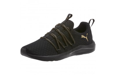 Puma Prowl Alt Knit Mesh Women's Running Shoes Black-Metallic Gold Outlet Sale
