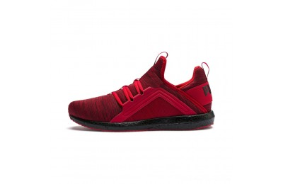 Black Friday 2020 Puma Mega NRGY Heather Knit Men's Running Shoes High Risk Red- Black Outlet Sale