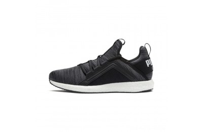Black Friday 2020 Puma Mega NRGY Heather Knit Women's Running Shoes Black-Iron Gate-White Outlet Sale