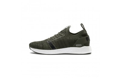 Puma NRGY Neko Engineer Knit Men's Running Shoes Forest Night- Black Outlet Sale