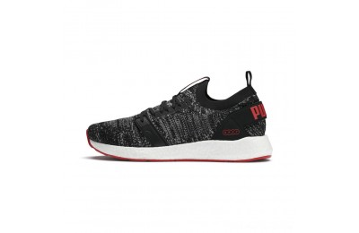 Puma NRGY Neko Engineer Knit Men's Running Shoes Black-High Risk Red Outlet Sale