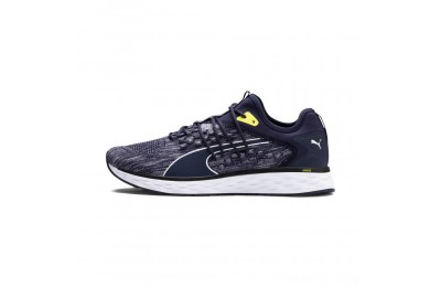 Black Friday 2020 Puma SPEED FUSEFIT Men's Running Shoes Peacoat-White-Blazing Yellow Outlet Sale