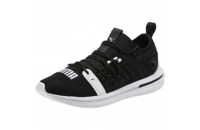 Puma IGNITE Limitless SR FUSEFIT Running Shoes Black- White Outlet Sale
