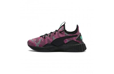 Black Friday 2020 Puma Defy Street 1 Women's Sneakers Black-Biscay Green Outlet Sale