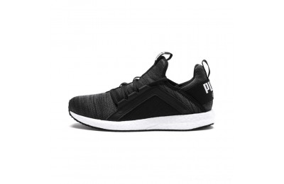 Puma Mega NRGY Heather Knit JrIron Gate-Black-White Outlet Sale