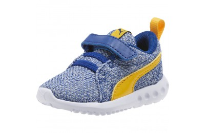 Black Friday 2020 Puma Carson 2 Bold Knit Sneakers INFSodalite Blue-Spectra Yellow Outlet Sale