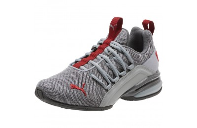 Puma Axelion Sneakers JRQuarry-Red Dahlia Outlet Sale