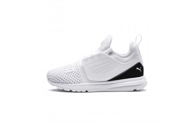 Puma IGNITE Limitless 2 AC PS Kids' Sneakers White- Black Outlet Sale