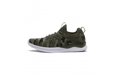 Puma IGNITE Flash Camo Men's Running Shoes Forest-Laurel Wreath-Black Outlet Sale