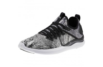Black Friday 2020 Puma IGNITE Flash Geo Women's Running Shoes Black- White Outlet Sale