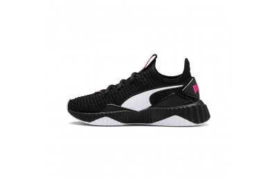 Black Friday 2020 Puma Defy JR Girls' Sneakers Black- White Outlet Sale