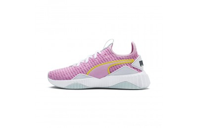 Puma Defy JR Girls' Sneakers Pale Pink-White-Fair Aqua Outlet Sale