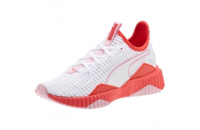 Puma Defy JR Girls' Sneakers White-Hibiscus -Pale Pink Outlet Sale