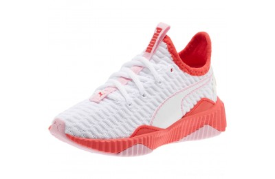 Black Friday 2020 Puma Defy Sneakers PSWhite-Hibiscus -Pale Pink Outlet Sale